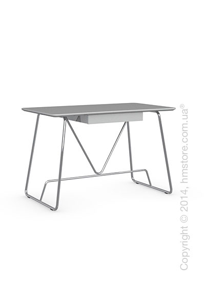 Стол Calligaris Duke Desk, Metal chromed and Finish glossy white