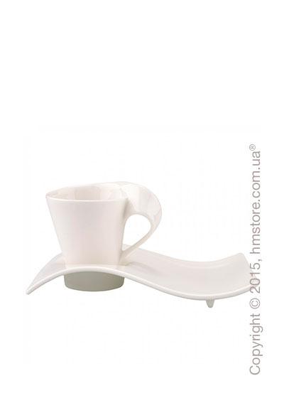 Чашка для эспрессо с блюдцем Villeroy & Boch коллекция New Wave 80 мл,  2 предмета