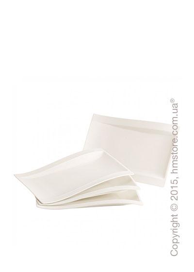 Набор тарелок Villeroy & Boch коллекция New Wave, 4 предмета