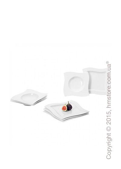 Набор тарелок Villeroy & Boch коллекция New Wave на 4 персоны, 8 предметов