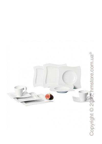 Набор фарфоровой посуды Villeroy & Boch коллекция New Wave на 6 персон, 30 предметов