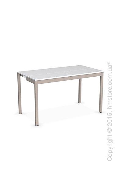 Стол Calligaris Snap Consolle, Extending console table, Melamine matt white and Metal matt taupe