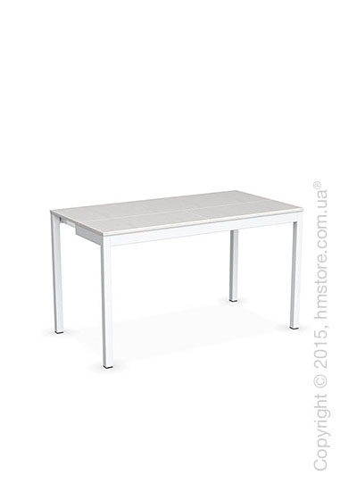Стол Calligaris Snap Consolle, Extending console table, Melamine multistripe silk and Metal matt optic white