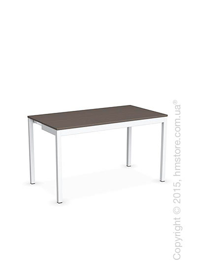 Стол Calligaris Snap Consolle, Extending console table, Melamine multistripe soil brown and Metal matt optic white
