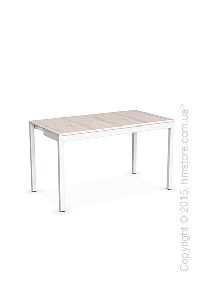 Стол Calligaris Snap Consolle, Extending console table, Melamine deco pearl and Metal matt optic white