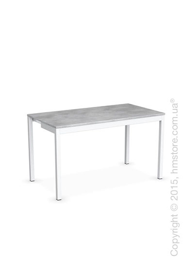 Стол Calligaris Snap Consolle, Extending console table, Melamine beton grey and Metal matt optic white