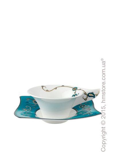 Чашка с блюдцем Villeroy & Boch коллекция Samarah, Turquoise