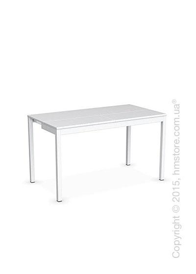 Стол Calligaris Snap Consolle, Extending console table, Melamine matt white and Metal matt optic white