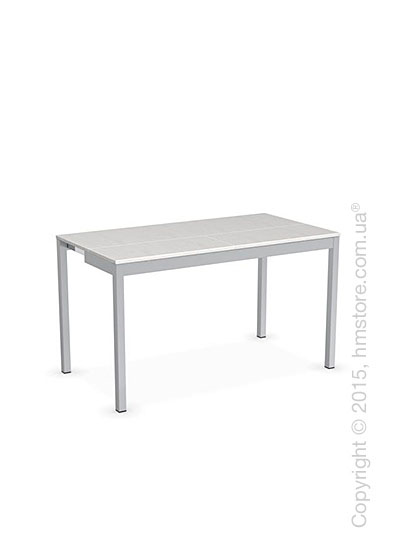 Стол Calligaris Snap Consolle, Extending console table, Melamine multistripe silk and Metal satin steel
