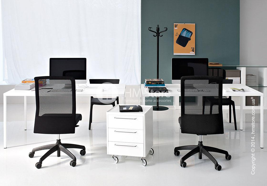 Стол Calligaris Heron, Rectangular metal table S, Metal matt optic white