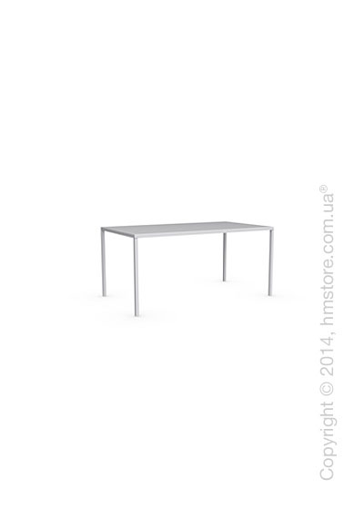 Стол Calligaris Heron, Rectangular metal table S, Metal matt optic white