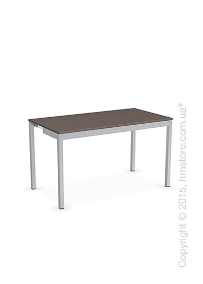 Стол Calligaris Snap Consolle, Extending console table, Melamine multistripe soil brown and Metal satin steel
