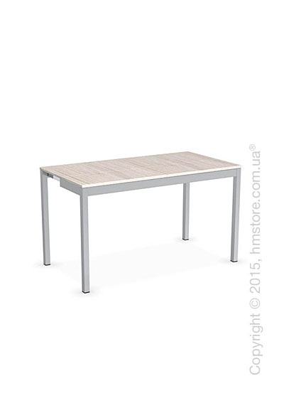 Стол Calligaris Snap Consolle, Extending console table, Melamine deco pearl and Metal satin steel