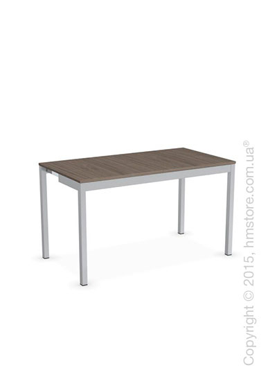 Стол Calligaris Snap Consolle, Extending console table, Melamine deco nougat and Metal satin steel