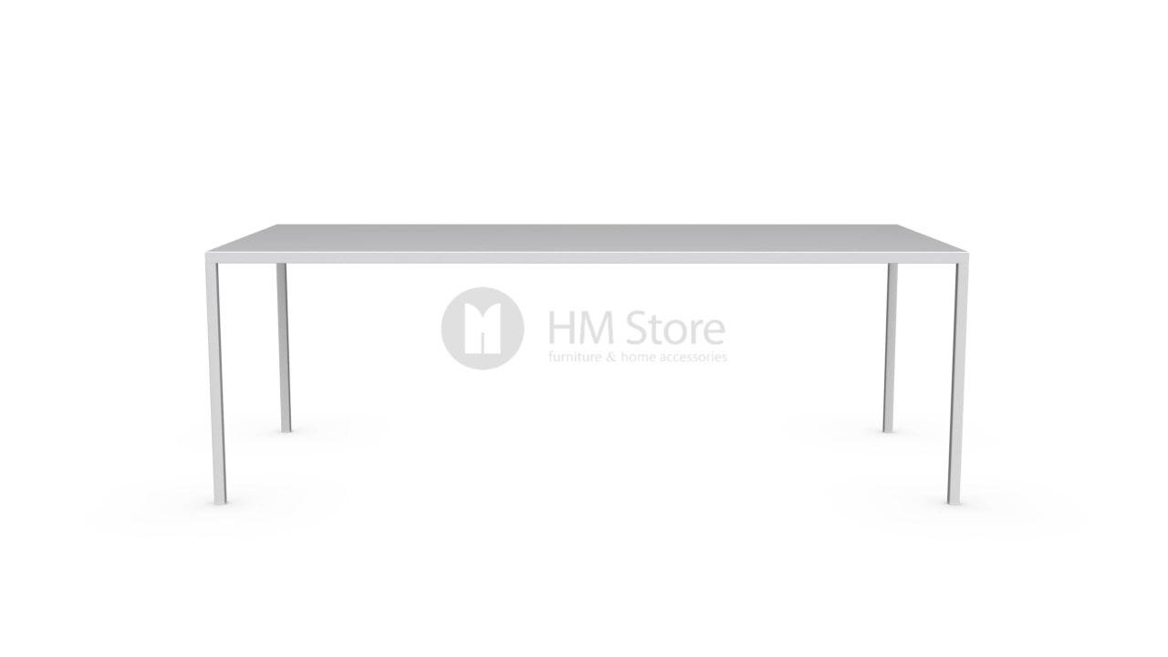 Стол Calligaris Heron, Rectangular metal table M, Metal matt optic white