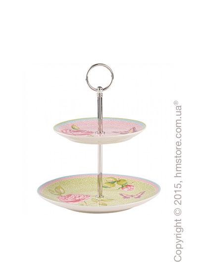 Блюдо для подачи двухъярусное Villeroy & Boch коллекция Rose Cottage