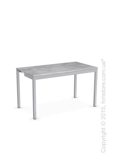 Стол Calligaris Snap Consolle, Extending console table, Melamine beton grey and Metal satin steel