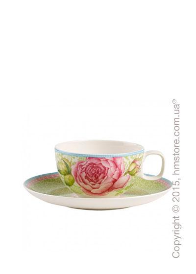 Чашка с блюдцем Villeroy & Boch коллекция Rose Cottage, Green