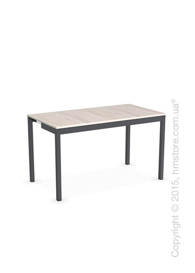 Стол Calligaris Snap Consolle, Extending console table, Melamine deco pearl and Metal matt grey