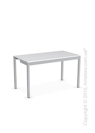 Стол Calligaris Snap Consolle, Extending console table, Melamine matt white and Metal satin steel