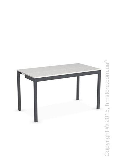 Стол Calligaris Snap Consolle, Extending console table, Melamine multistripe silk and Metal matt grey