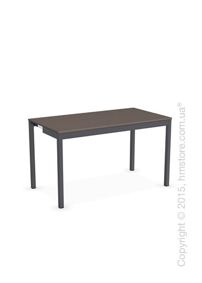 Стол Calligaris Snap Consolle, Extending console table, Melamine multistripe soil brown and Metal matt grey