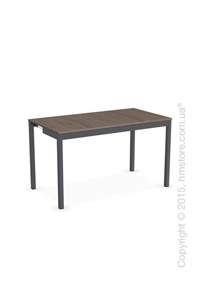 Стол Calligaris Snap Consolle, Extending console table, Melamine deco nougat and Metal matt grey