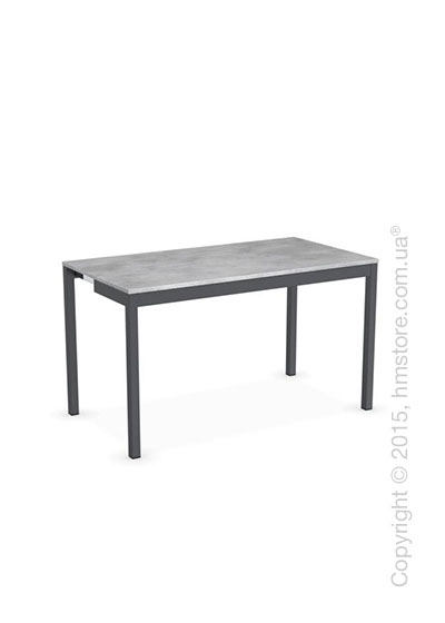 Стол Calligaris Snap Consolle, Extending console table, Melamine beton grey and Metal matt grey