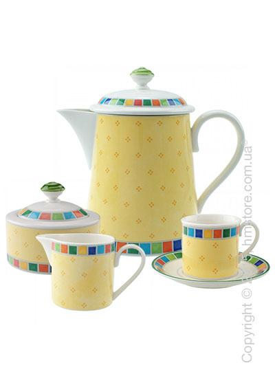 Кофейный сервиз  Villeroy & Boch коллекция Twist Alea на 6 персон, 15 предметов, Limone