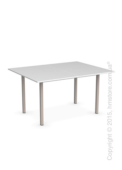 Стол Calligaris Snap Book, Flip top extending table, Melamine multistripe silk and Metal matt taupe