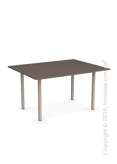 Стол Calligaris Snap Book, Flip top extending table, Melamine multistripe soil brown and Metal matt taupe