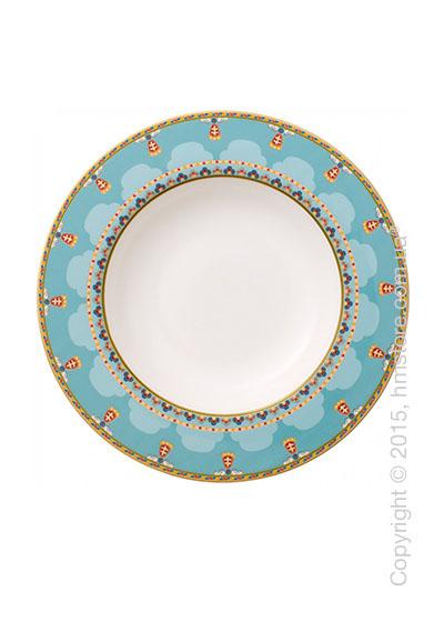 Тарелка столовая глубокая Villeroy & Boch коллекция Samarkand, Aquamarin