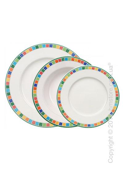 Набор тарелок Villeroy & Boch коллекция Twist Alea на 6 персон, 18 предметов, Caro