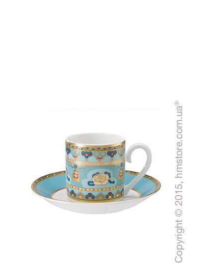 Чашка для эспрессо с блюдцем Villeroy & Boch коллекция Samarkand, Aquamarin
