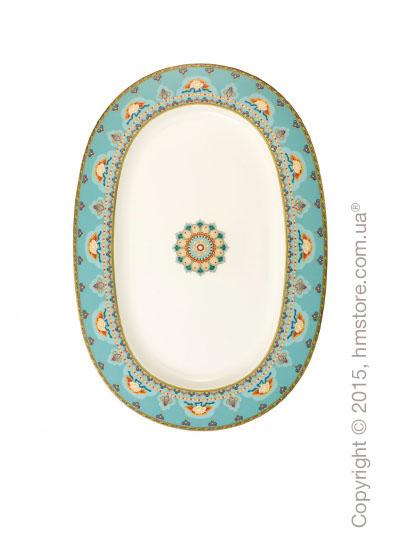 Блюдо для подачи Villeroy & Boch коллекция Samarkand, 41 см, Aquamarin