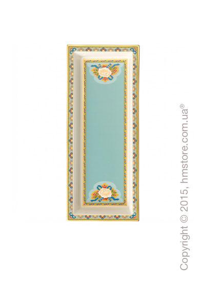 Тарелка Villeroy & Boch коллекция Samarkand, 25x10 см, Aquamarin
