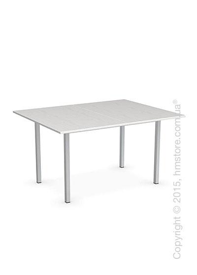 Стол Calligaris Snap Book, Flip top extending table, Melamine multistripe silk and Metal satin steel