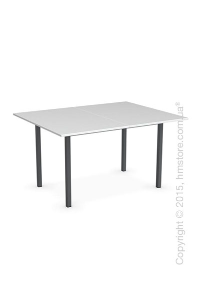 Стол Calligaris Snap Book, Flip top extending table, Melamine multistripe silk and Metal matt grey