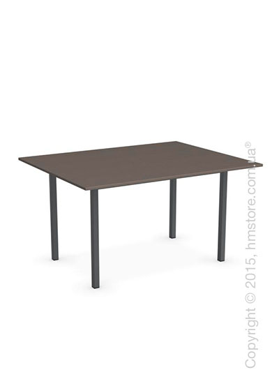 Стол Calligaris Snap Book, Flip top extending table, Melamine multistripe soil brown and Metal matt grey