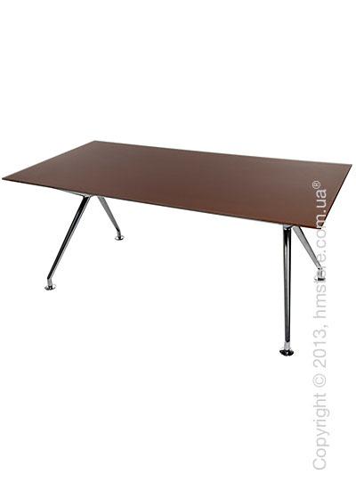 Стол Wagner W-Table 1800х900 мм, Коричневое матовое стекло