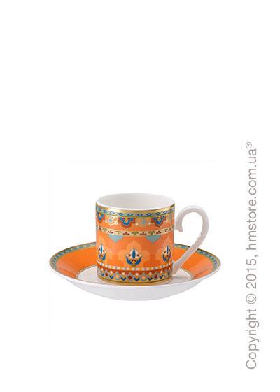 Чашка для эспрессо с блюдцем Villeroy & Boch коллекция Samarkand, Mandarin