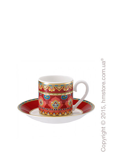 Чашка для эспрессо с блюдцем Villeroy & Boch коллекция Samarkand, Rubin