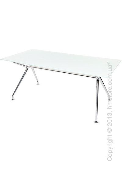 Стол Wagner W-Table 1800х900 мм, Белое матовое стекло