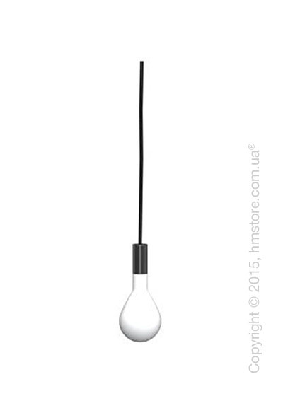 Подвесной светильник Calligaris Pom Pom, Design suspension lamp, Blown glass frosted white and Metal matt black