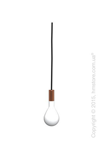 Подвесной светильник Calligaris Pom Pom, Design suspension lamp, Blown glass frosted white and Metal copper