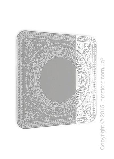 Зеркало Calligaris Damasco L, Screen print matt optic white