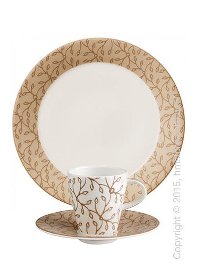 Кофейный сервиз Villeroy & Boch коллекция Caffè Club Floral на 6 персон, 18 предметов, Caramel
