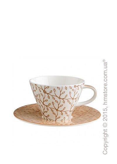 Чашка с блюдцем Villeroy & Boch коллекция Caffè Club Floral 220 мл, Caramel