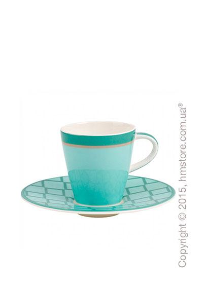 Чашка для эспрессо с блюдцем Villeroy & Boch коллекция Caffè Club Uni 100 мл, Peppermint