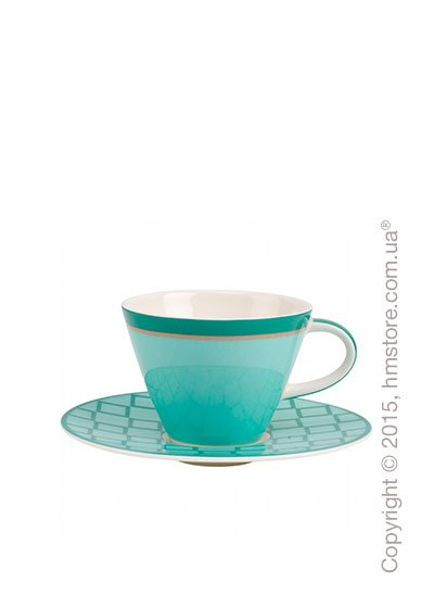 Чашка с блюдцем Villeroy & Boch коллекция Caffè Club Uni 220 мл, Peppermint